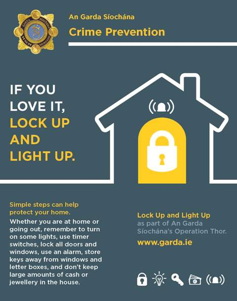 'Lock Up Light Up' campaign